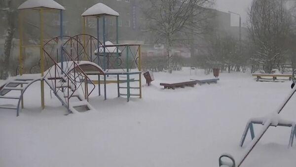 Майский снегопад в Карелии - Sputnik Латвия
