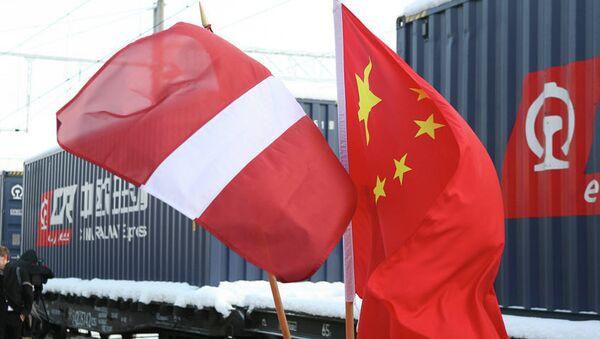 В Ригу прибыл первый поезд из Китая - Sputnik Латвия