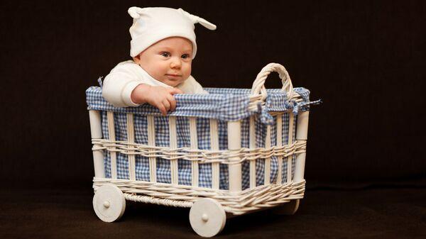 Младенец в корзинке - Sputnik Latvija