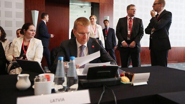 Эдгарс Ринкевичс на пленарном заседании по безопасности и Восточной политике в Сопоте - Sputnik Латвия