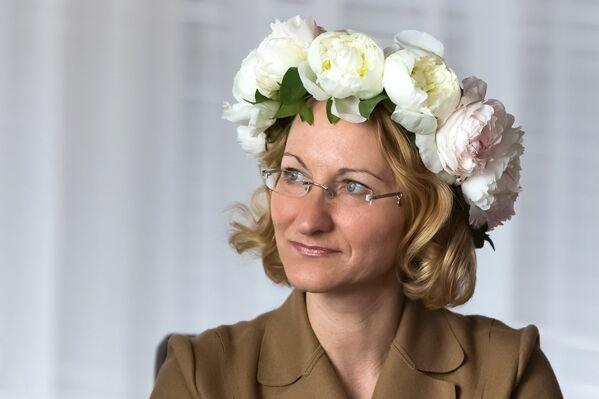 Министр культыры Латвии Даце Мелбарде - Sputnik Латвия