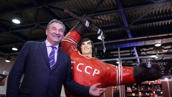 Президент Федерации хоккея России, трехкратный олимпийский чемпион Владислав Третьяк - Sputnik Латвия