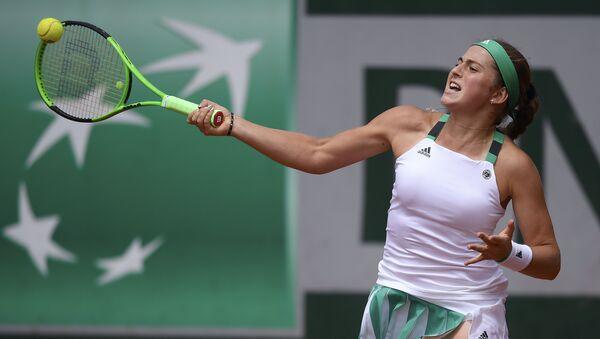 Латвийсская теннисистка Елена Остапенко на открытом чемпионате Франции - Sputnik Латвия