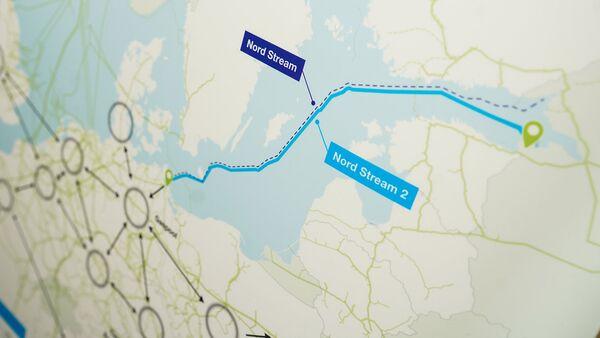 Схема газопровода Nord Stream 2 и распределение газа по Европе - Sputnik Latvija