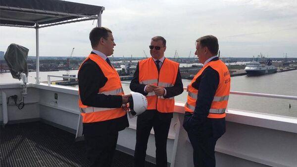 Igaunijas, Lietuvas un Latvijas premjerministri apspriedē par SDG termināļa celtniecību Baltijā - Sputnik Latvija