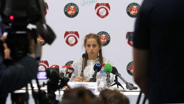 Roland Garros uzvarētāja latviešu tenisiste Jeļena Ostapenko - Sputnik Latvija