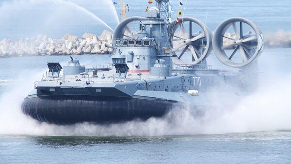 Малый десантный корабль на воздушной подушке МДК-50 Евгений Кочешков - Sputnik Латвия