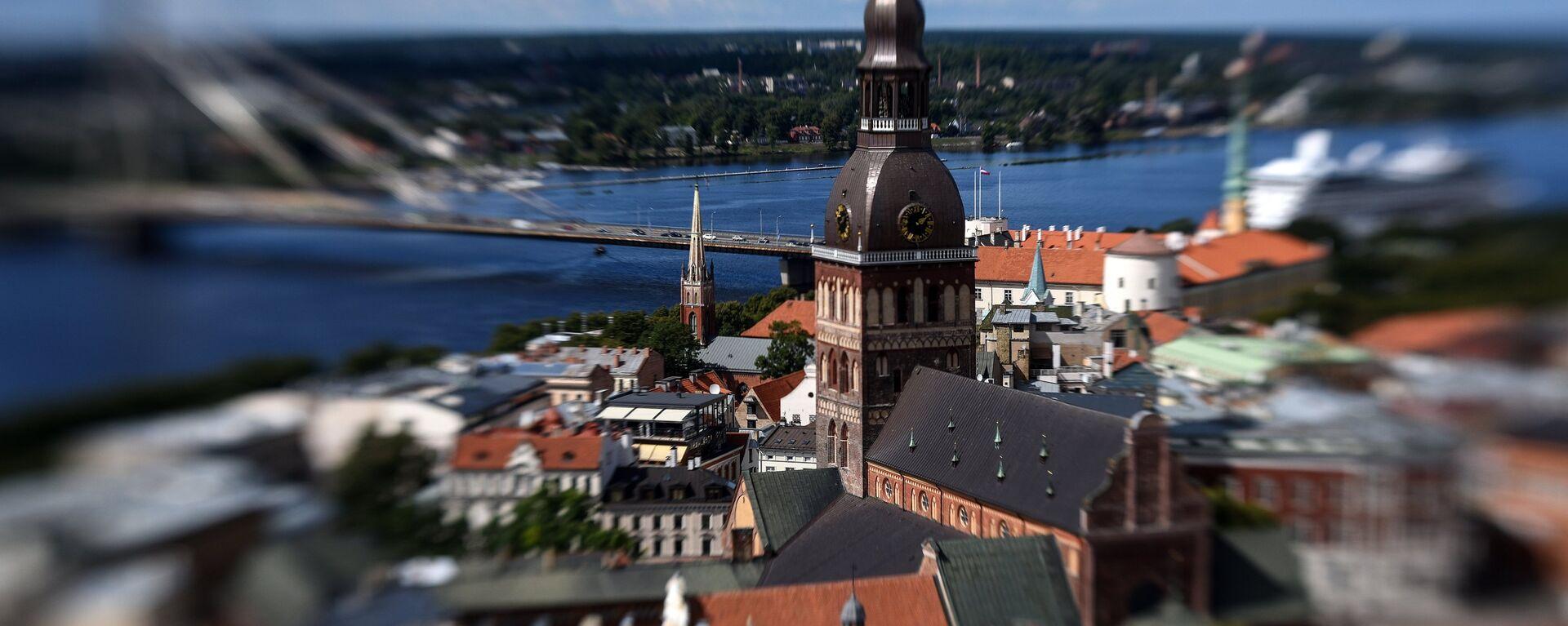 Колокольня Домского кафедрального собора в Риге в Латвии - Sputnik Latvija, 1920, 13.10.2019