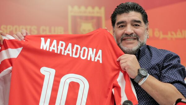 Leģendārais argentīniešu futbolists Djego Maradona - Sputnik Latvija