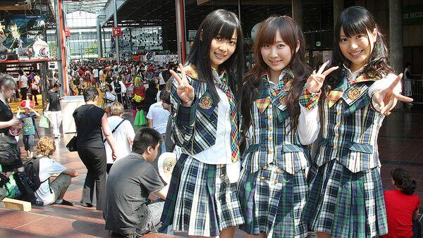 Девушки из Японии, архивное фото - Sputnik Латвия