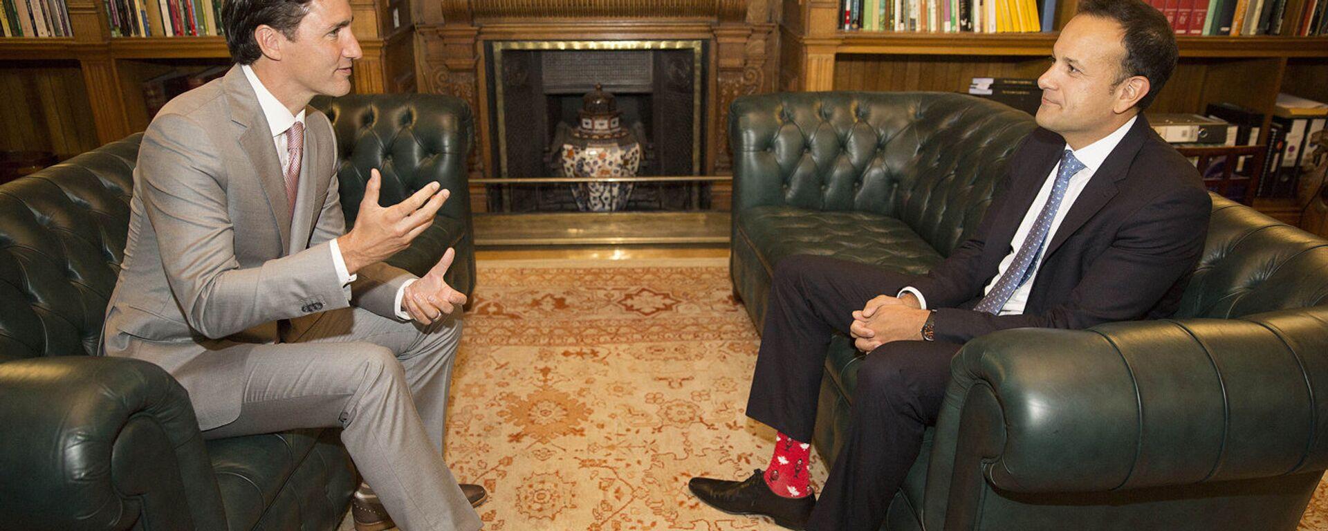 Премьер-министр Канады Джастин Трюдо и премьер-министр Ирландии Лео Варадкар - Sputnik Латвия, 1920, 04.07.2017