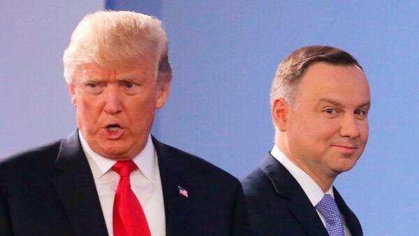 Президент США Дональд Трамп и президент Польши Анджей Дуда - Sputnik Латвия