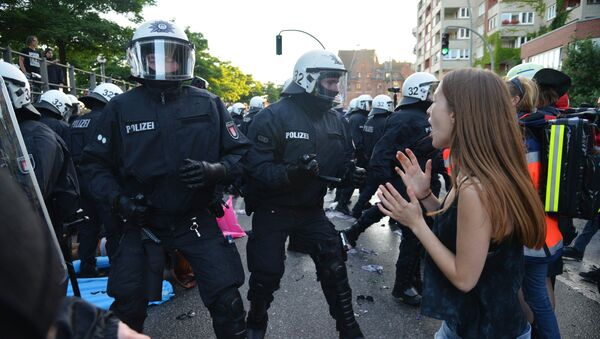 Акции протеста в Гамбурге - Sputnik Latvija