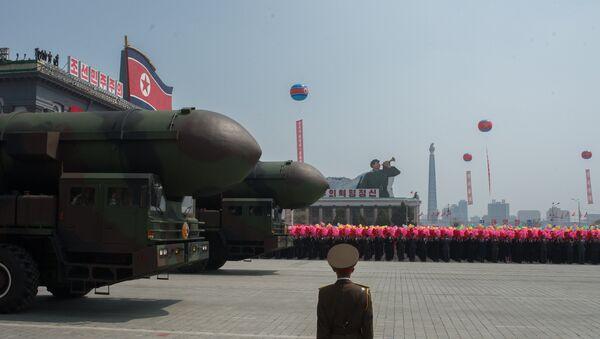 Пусковые установки межконтинентальных баллистических ракет Корейской народной армии, архивное фото - Sputnik Латвия