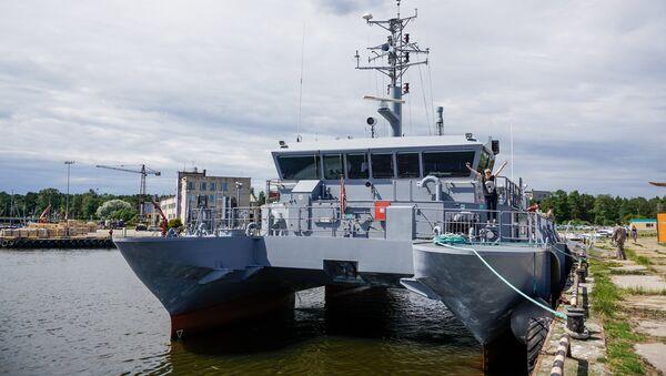 Патрульный корабль Skrunda - Sputnik Латвия