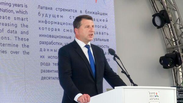 Latvijas prezidents Raimonds Vējonis Astana-Ekspo galvenās skatuves - Sputnik Latvija