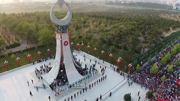 Piemineklis apvērsuma upuriem Ankarā - Sputnik Latvija
