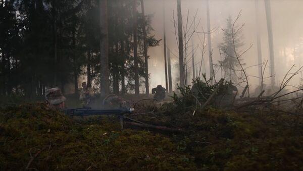 Кадр из фильма Лесные братья. Сражение за Балтию,  снятый документалистами НАТО - Sputnik Латвия