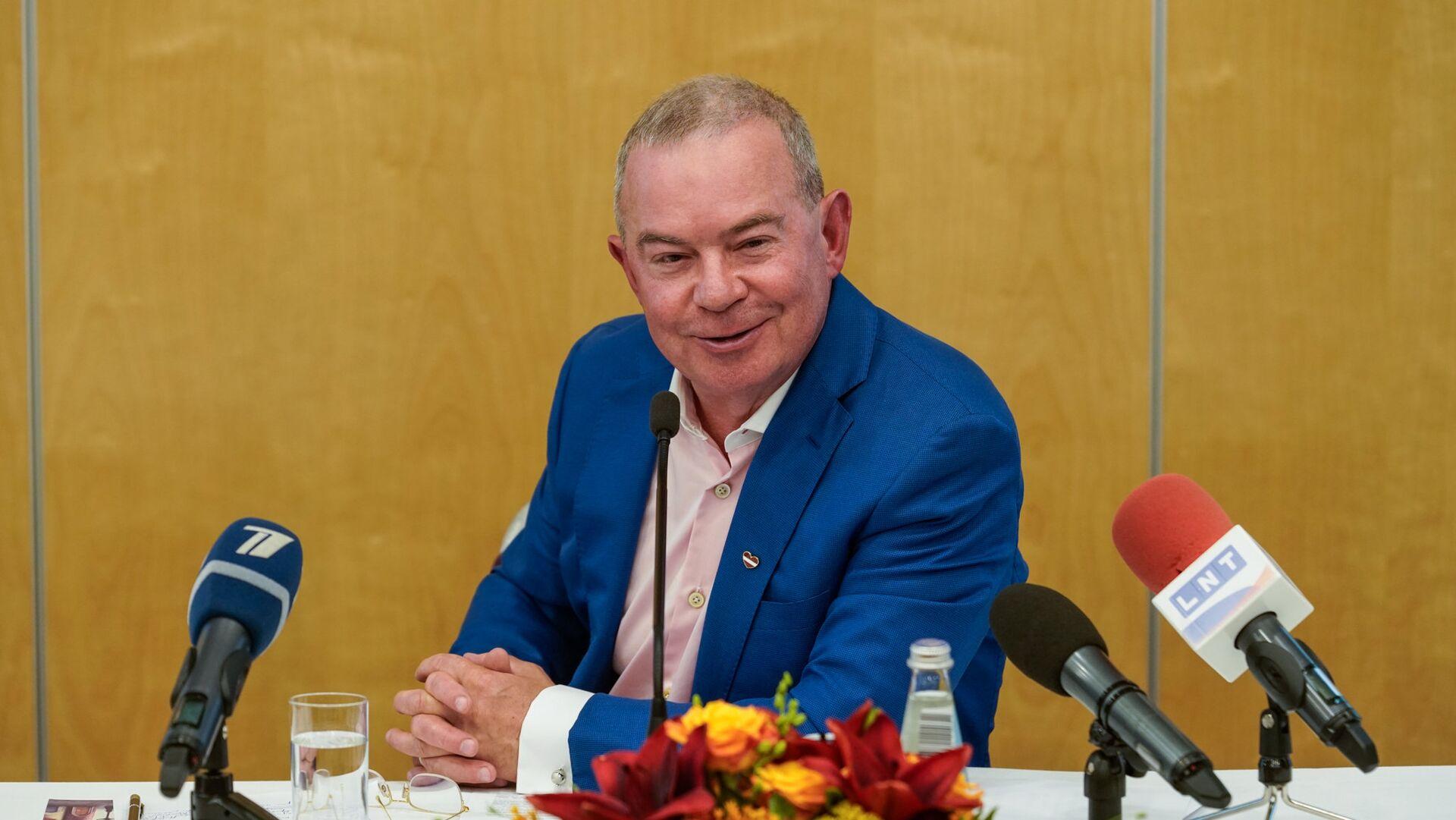 Пресс-конференция мэра Вентспилса Айварса Лембергса - Sputnik Латвия, 1920, 29.09.2021