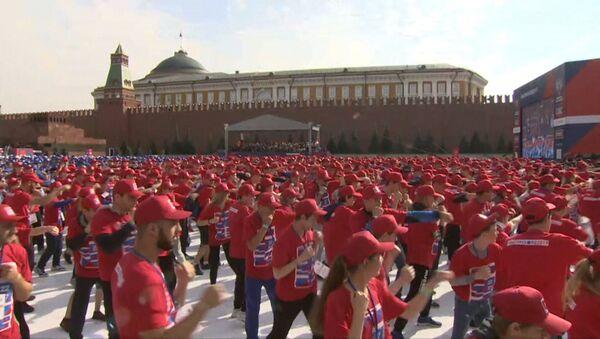 Самая массовая тренировка по боксу - Sputnik Латвия
