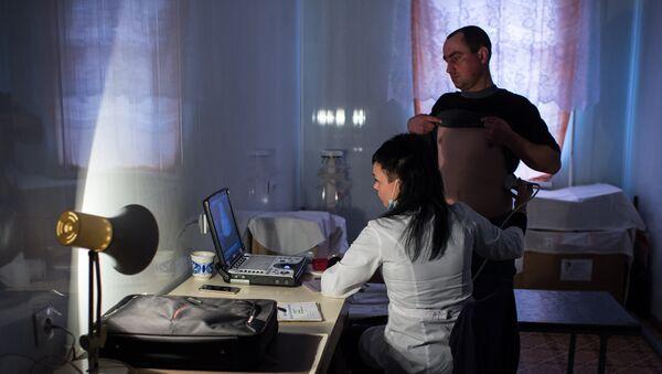 Во время медицинского обследования - Sputnik Latvija