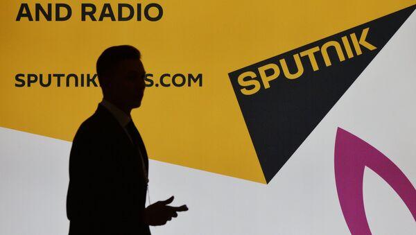 Стенд международного информационного агентства и радио Sputnik - Sputnik Латвия