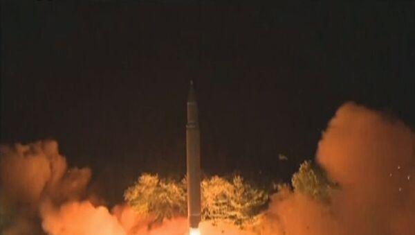 Запуск баллистической ракеты в Северной Корее - Sputnik Латвия