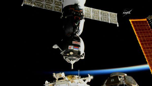 Kuģis Sojuz MS-05 savienojies ar SKS - Sputnik Latvija