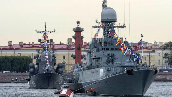 Sanktpēterburgā notika Krievijas JKF dienas parādes mēģinājums - Sputnik Latvija