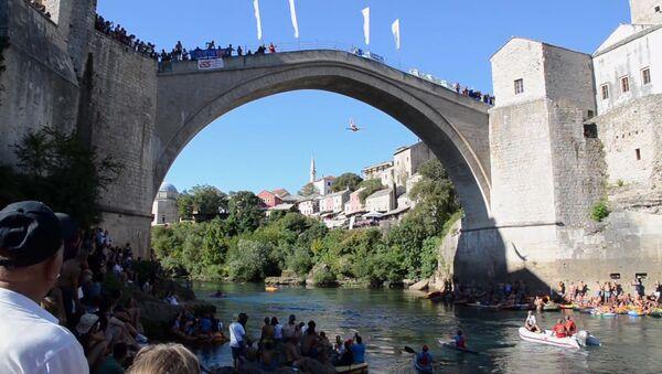 Прыжки с 25-метрового моста в Боснии и Герцеговине - Sputnik Латвия