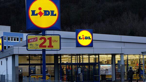 Общий вид немецкого супермаркета сети Lidl - Sputnik Латвия