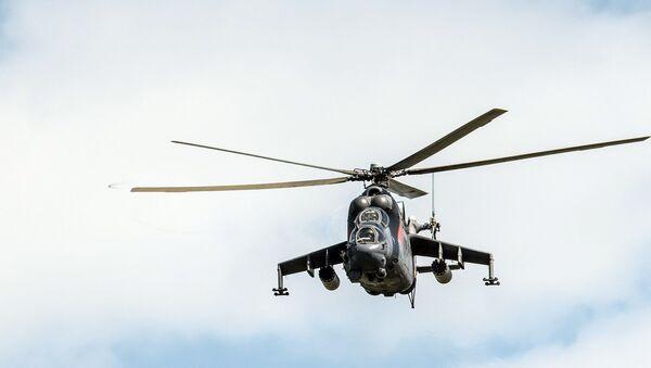 Многоцелевой ударный вертолет Ми-24 Крокодил, архивное фото - Sputnik Латвия