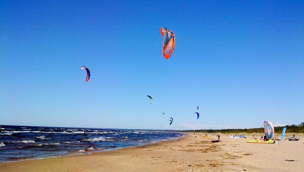 Пляж в Лиласте - Sputnik Latvija