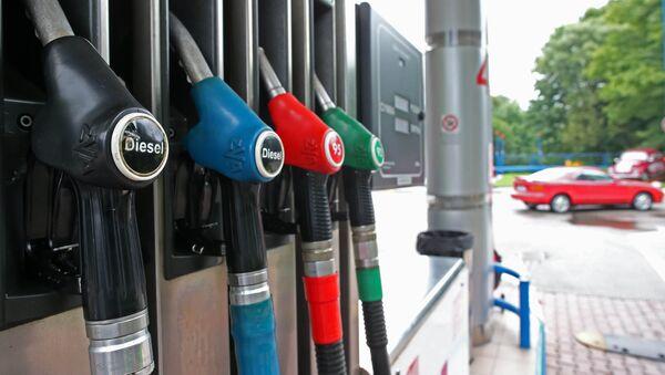 Топливораздаточная колонка на автозаправочной станции - Sputnik Латвия
