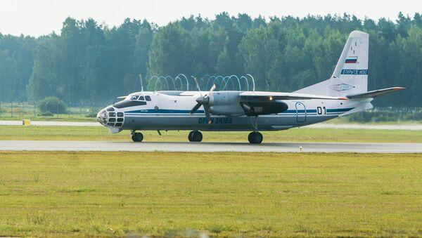 Самолет АН-30Б ВВС России, участвующий в программе Открытое небо, в аэропорту Рига - Sputnik Latvija