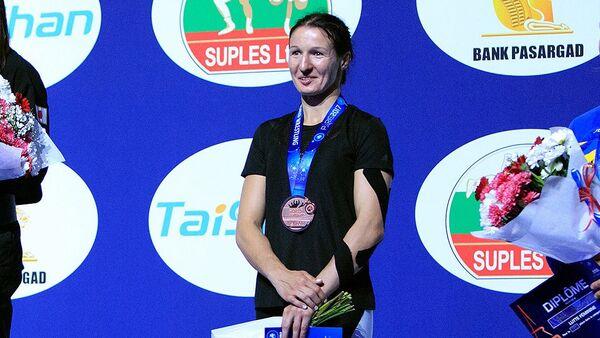 Бронзовый призер чемпионата мира по борьбе Анастасия Григорьева - Sputnik Латвия