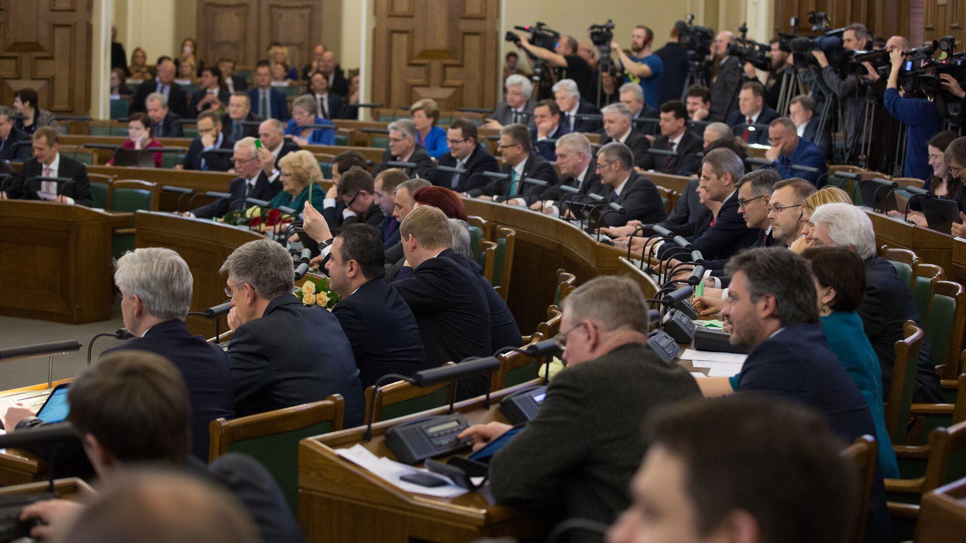 Заседание Сейма Латвии - Sputnik Латвия, 1920, 02.07.2021