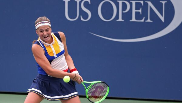 Елена Остапенко на US Open, 2-й день турнира - Sputnik Латвия