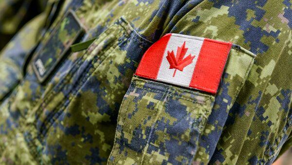 Latvijā dislocētā Kanādas militārā kontingenta emblēma. Foto no arhīva - Sputnik Latvija