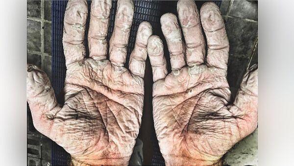 Руки британского гребца Алекса Грегори - Sputnik Latvija