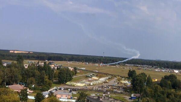 Авиакрушение в Подмосковье - Sputnik Латвия