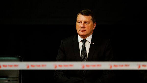 Президент Латвии Раймондс Вейонис на открытии международной выставки Riga Food 2017 - Sputnik Латвия