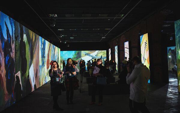 Открытие мультимедийного проекта Резо Габриадзе Необыкновенная выставка в Красном зале Музея Москвы - Sputnik Латвия