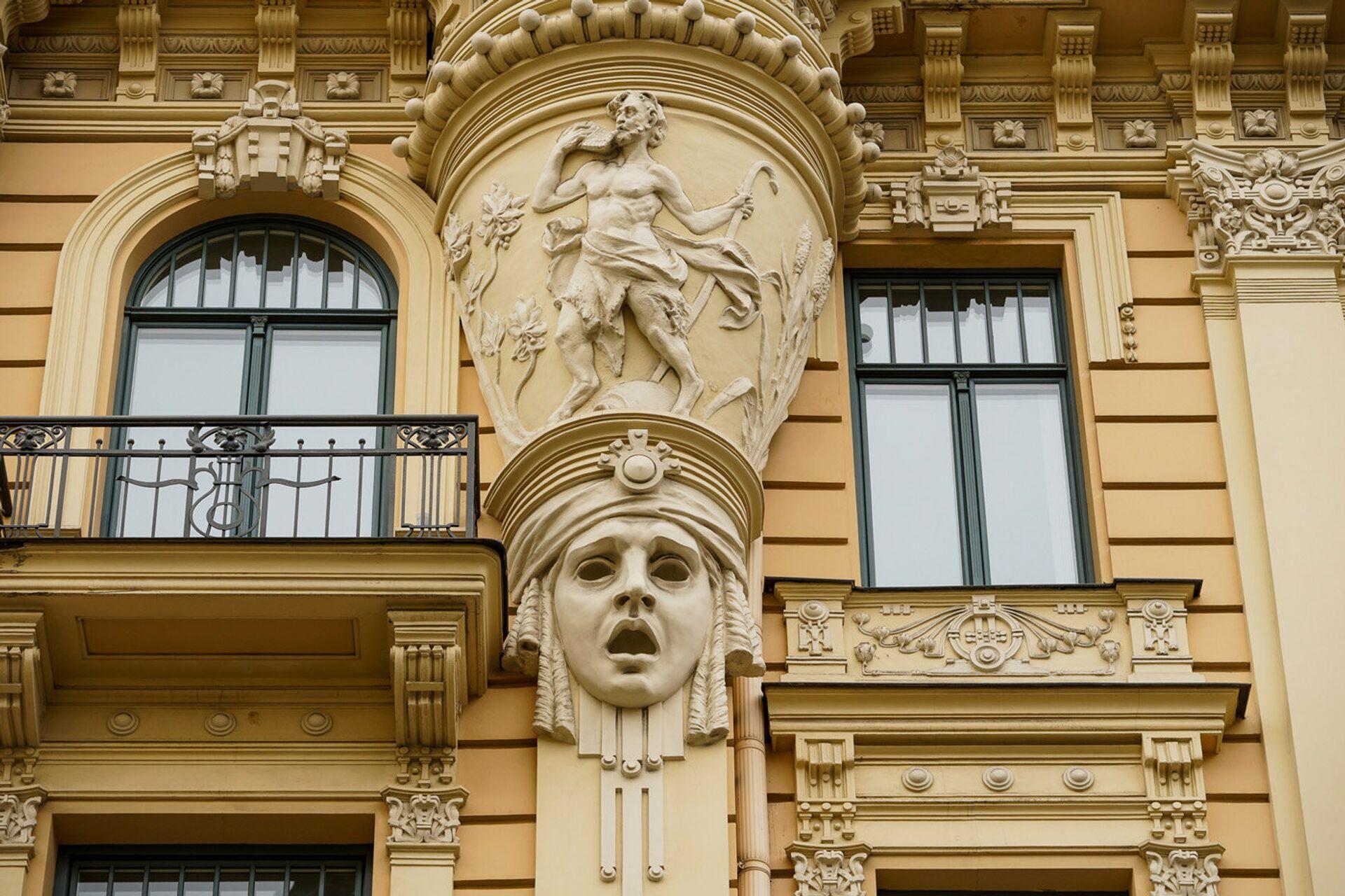 Дом архитектора Михаила Эйзенштейна по адресу ул. Альберта 13 - Sputnik Латвия, 1920, 30.07.2021