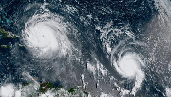 Ураганы Ирма и Хосе в Атлантическом океане на снимке со спутника - Sputnik Латвия