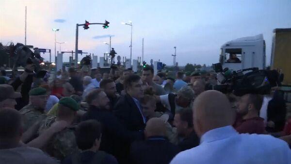 Прорыв Саакашвили через польско-украинскую границу - Sputnik Латвия