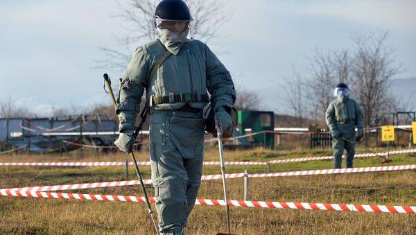Krievijas BS Inženieru spēku vienību mācības. Foto no arhīva - Sputnik Latvija