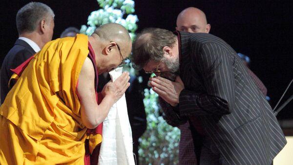 Далай-лама и Борис Гребенщиков, 2016 год - Sputnik Латвия