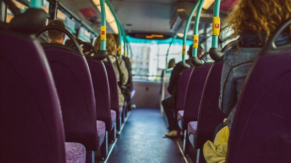 В салоне автобуса - Sputnik Латвия