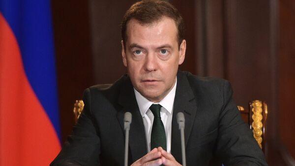 Krievijas valdības vadītājs Dmitrijs Medvedevs. Foto no arhīva - Sputnik Latvija